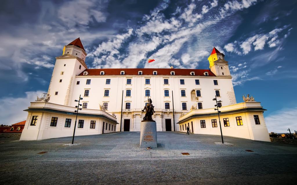 Bratislava Castle in sunset. Slovakia
