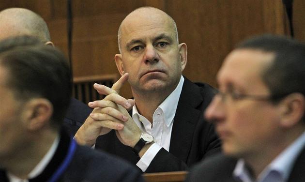 Obžalovaný Martin Dědic v jednací síni Krajského soudu v Ostravě.