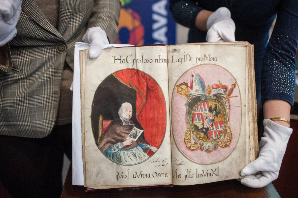 Kniha členů bratrstva P. Marie Karmelské tzv. škapulířového bratrstva z let 1689–1783