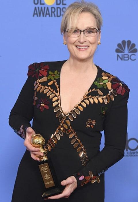 Meryl Streep byla oceněna za celoživotní dílo. Je bezpochyby jednou z nejlepších hereček současnosti a i v rámci celé historie kinematografie zaujímá svým těžko srovnatelným hereckým umem přední místa. Dokazuje to i jejích 14 nominací na Oscara - což je rekord, který zatím nikdo nepřekonal a asi jen těžko překoná
