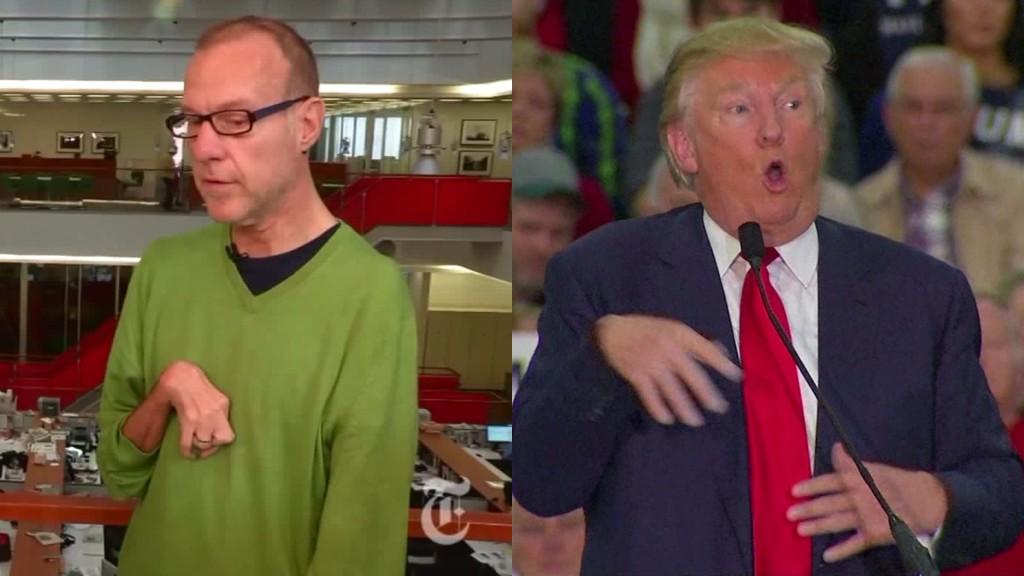 Prezident USA Donald Trump napodoboval a tím zesměšňoval vážně nemocného novináře listu The New York Times Serge Kovaleského